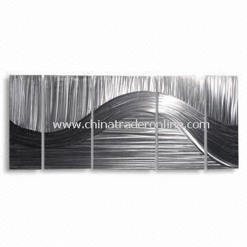 Metal Crafts, Handmade Aluminum Board Painting for Wall Decoration, Measuring 60 x 140cm