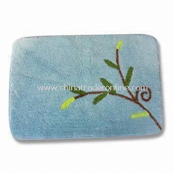 Non-slip Bathroom Rug, Available in Various Designs, Measures 45 x 65cm