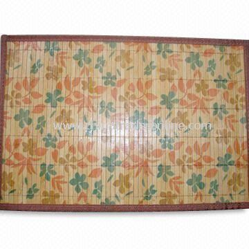 Printed Bamboo Rug, Suitable for Living Room and Bedroom, Customized Sizes are Accepted