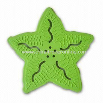 Sea Star-shape Bathroom Rug for Decorating Tub or Shower, Made of Rubber