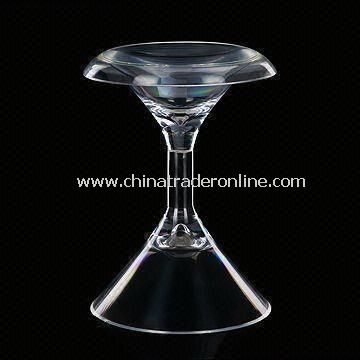 Acrylic Round Stool, Measures 14 x 13.5 x 18cm, Used in Bars and Restaurants