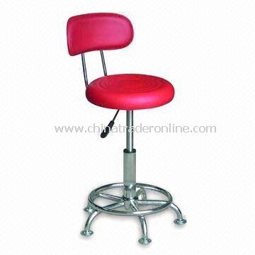 Backrest Bar Stool, Made of PVC, Measures 35 x 35 x 62 to 82cm