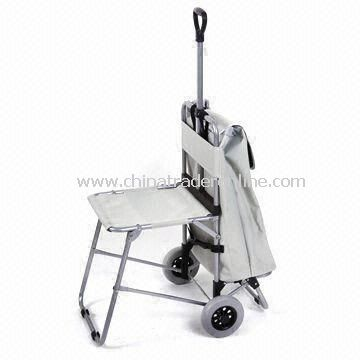 Collapsible Shopping Cart in 2011 New Design with Chair and Two Wheels from China