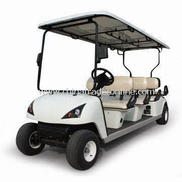 Eight Seats Electric Golf Cart with 80 to 100km Maximum Travel Distance and 640kg Carrying Capacity