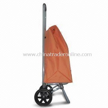 Heavy-duty Construction Supermarket Shopping Cart with Lighted Pipe Frame and Firm Wheel