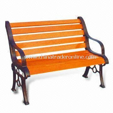 Leisure Chair/Park Bench, Measuring 120 x 50 x 76cm, Made of Wood, Suitable for Garden and Park from China