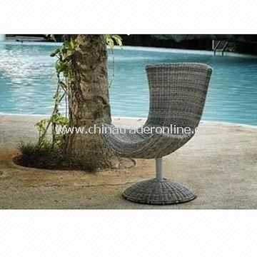 Outdoor Rotary Bar Stool/Rotary Rattan Chair, Weather-resistant, Various Colors are Available