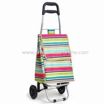 Plastic-coated Shopping Cart, Measures 90 x 36 x 30cm, Available in Various Colors