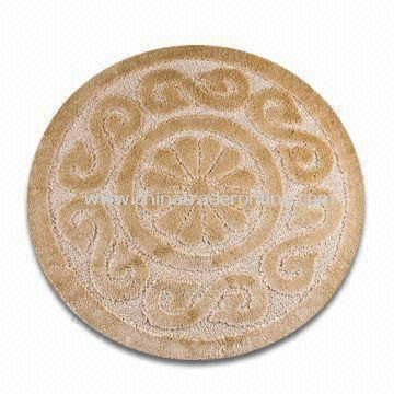 Polypropylene Floor Round/Area/Door/Kitchen/Floor Rug, Measures 90 x 90cm, Comes in Various Colors