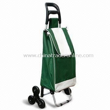 Retractable Shopping Cart with Foldable Chair and Three Wheels