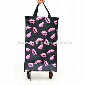 Shopping Cart in New Design, Available with Aluminum Tube and Seat, Made of 600D Nylon