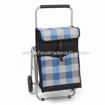 Shopping Cart with Chair, 0.8mm Aluminum Alloy Tube and EVA Wheel, Measure 89 x 46 x 61cm