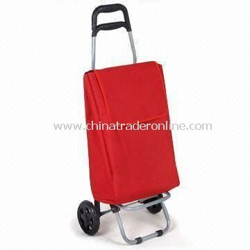 Shopping Cart with Wheels and Trolley Bag, Folding and Reusable