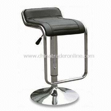 Swivel Bar Stool with Chrome Plated Base and PVC Seat