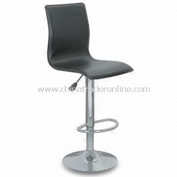 Swivel Bar Stool with PVC Seat, Measures 430 x 470 x 935 to 1,150mm