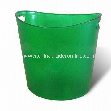 Beer Ice Bucket/Tray, Customized Designs and Logos are Available, Made of Plastic