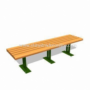 Garden Leisure Bench with Cast-iron Arms, Available in Various Colors and Types