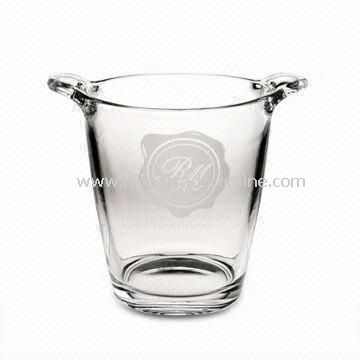 Ice Bucket, Made of Machine-pressed Glass, Suitable for Promotional Projects