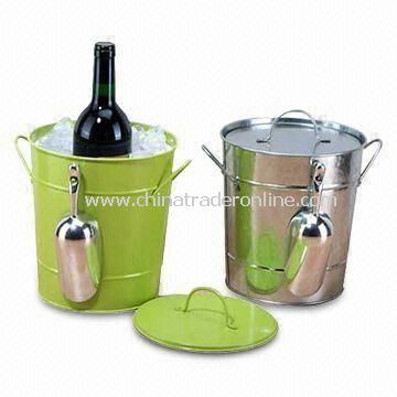 Ice Buckets, Customized Logo Printings Welcomed, Made of Plastic Material