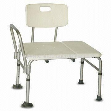 Plastic Seat Transfer Bath Bench with Anodized Aluminum Tube