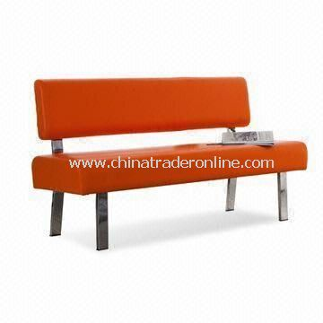 PVC Leather Waiting Chair, Measuring 131 x 53 x 83cm, Available in Different Colors