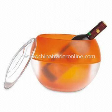 Round-shaped Ice Bucket, Accepts Customized Logos and Colors, Measures 20.5 x 21cm