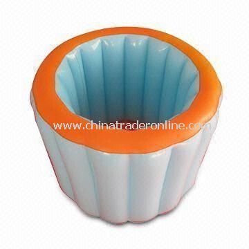 Silver Inflatable Ice Bucket in Round Shape, Customized Shapes and Printing Logo are Accepted