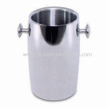Stainless Steel Ice Bucket for Hotels and Bars, Various Designs are Available
