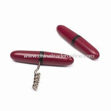 6-piece Wine Tool Kits, Made of Zinc and Other Metal Alloy Materials