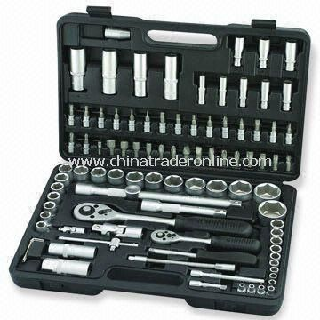 94-piece 1/4 and 1/2 Inches Driver Socket Set, Includes Spinner Handle and Sliding T-bar