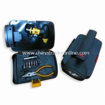 Combination Tool Kits with Light, Sockets and Prolong Bar