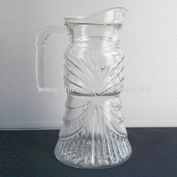 Glass Decanter with Molded Pattern on Body, 1,562ml Capacity and 100mm Top Diameter
