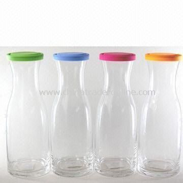 Handmade Glass Decanters with Silica Gel Lid, Measures 10 x 28.5cm
