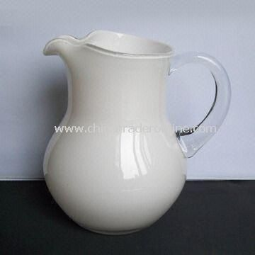 Milky Color Glass Decanter with 2,201ml Capacity, 100mm Bottom Diameter and 210mm Height