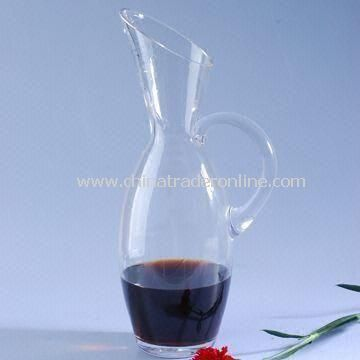 Mouth-blown Glass Decanter, Can be Used as Water Cooler