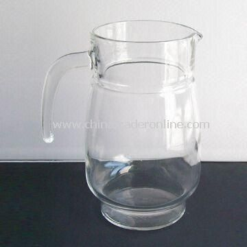 Transparent Glass Decanter with 1,500ml Capacity, 200mm Height and 105mm Top Diameter