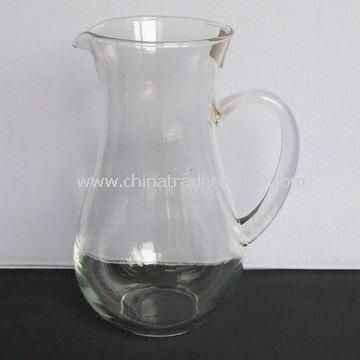 Transparent Glass Decanter with Traditional Shape, 1,241ml Capacity and 62mm Bottom Diameter