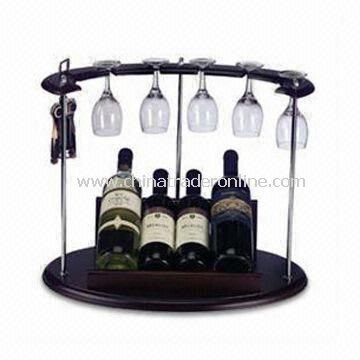 2 Bottles Wine Rack, Made of Density Board, Used for Storage Purposes