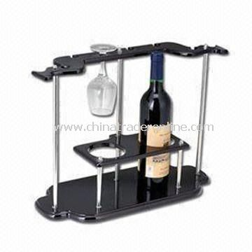 2 Bottles Wine Rack, Made of Density Board