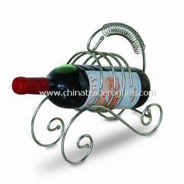 23.5 x 9.5 x 22.5cm Wine Rack, Made of Iron, Customized Designs are Welcome