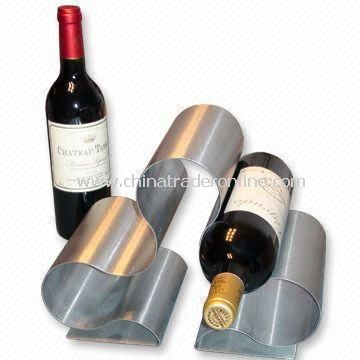 6-piece Wine Rack, Made of Stainless Steel, Various Finishes are Available