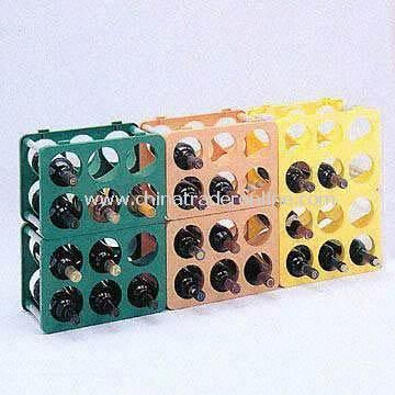Colorful Plastic Wine Rack Measures 357 x 257 x 217mm