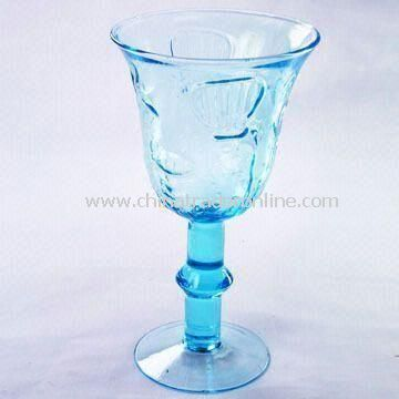 Handmade Sea Blue Wine Glass, Measuring 11.5 x 20cm