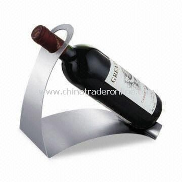 Red Wine Holder, Made of Stainless Steel Material, Sized 22 x 21 x 21cm