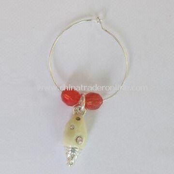 Wine Glass Charm, Made of Zinc Alloy, OEM Orders Welcomed