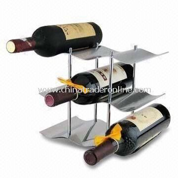 Wine Holder, Perfect for Kitchen or Tabletop, Made of 18/0 Stainless Steel