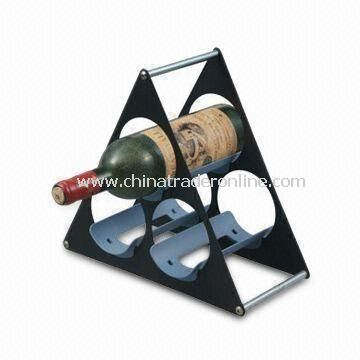 Wine Rack, Customized Designs are Welcome, Made of Stainless Steel