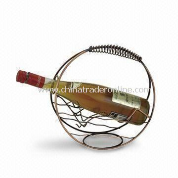Wine Rack, Made of Stainless Steel, Noble and Classical, Measures 25 x 14 x 29cm
