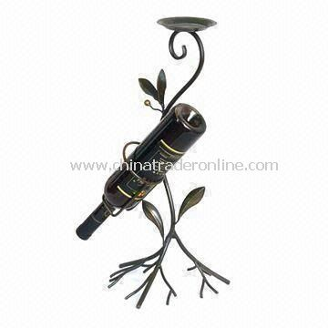 Wine Rack, Made of Steel, OEM Orders are Welcome, Measures 22 x 21 x 50cm