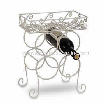 Wine Rack with Unique and Durable Design, Made of Steel, Measures 17.5 x 27.5 x 36cm